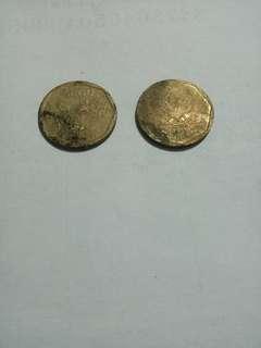 Uang coin 100 rupiah tahun 1998
