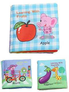 🍀10 Pages Baby Soft Cloth Learning Educate Book🍀
