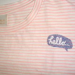 Hello Light Pink Striped Top (from Singapore)