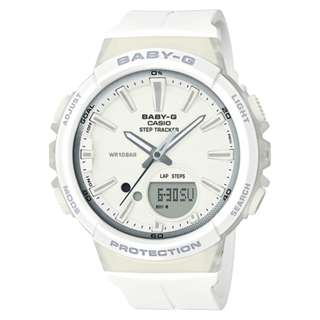 CASIO Baby-G BGS-100 series Step Tracker 全白 BGS-100 跑步專用 計步器 BabyG BGS100