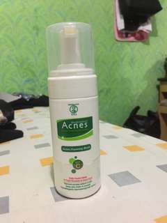 acnes facial foam, toner, roll on