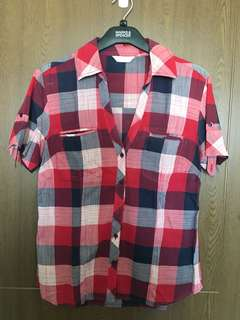 Promod Checkered Blouse