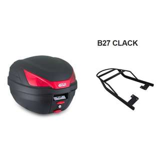 Givi box B27 clack included carrier