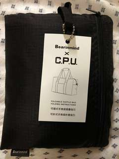 全新!黑色旅行袋 (可疊細)
