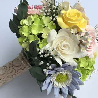 Handmade clay floral bouquets