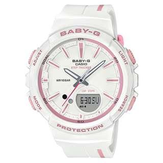 CASIO Baby-G BGS-100 series Step Tracker 白粉紅色 BGS-100RT 跑步專用 計步器 BabyG BGS100RT
