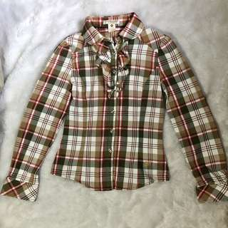 Plaid formal polo