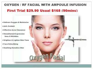 Oxygen / RF Facial With Ampoule Infusion