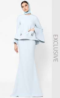 Looking For - Fiziwoo Kurung Penang in Dusty Blue (Size M)