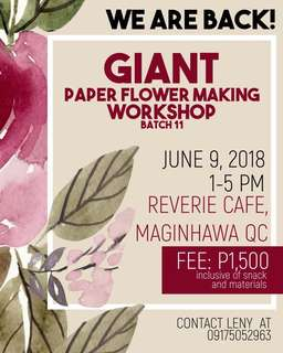 Paper flower making workshop