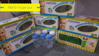 Breast milk storage bottles