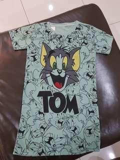 Tom & Jerry Green Dress
