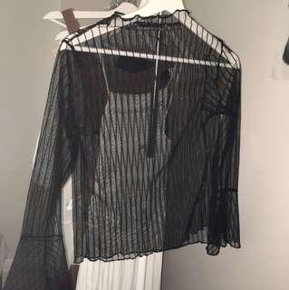 OAK+FORT mesh shirt