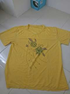 Yellow female tshirt
