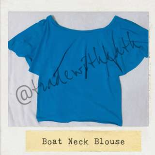 Boat Neck/Off Shoulder Type Blouse