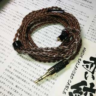 父親節😈Shure mmcx 赤絞古銅全黑碳纖3.5mm耳機升級線😈