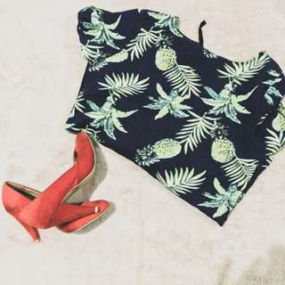 Forever 21 Peach Suede Heels (w/ free shirt)