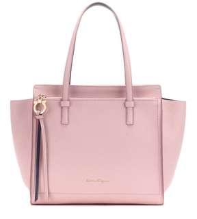 Salvatore Ferragamo leather pink tote bag