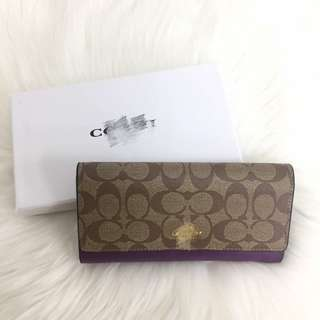 AUTHENTIC COACH SIGNATURE LONG WALLET