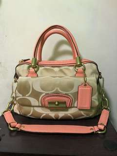 Peach Coach Bag