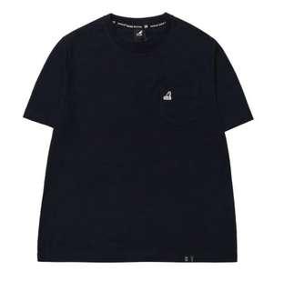 Kangol basic pocket t-shirt 深藍/白
