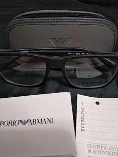 EMPORIO ARMANI 黑框平光鏡 EA3112 5042 145