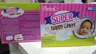 BN Pureen Super Nappy Liner x 2packs