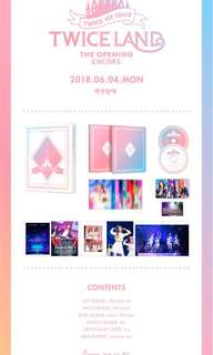(Group Order) TWICE 1ST TOUR  TWICELAND -THE OPENING [ENCORE] DVD & BLU-RAY
