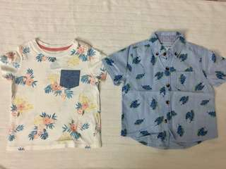Gingersnap Floral Polo and Tshirt