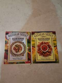 Healthy Cook Books in Malay - low calories, low cholesterol