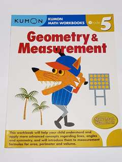 Kumon Math Workbooks Grade 5 - Geometry & Measurement