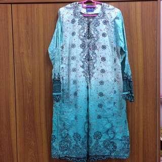 Baju Kurung Cotton Biru