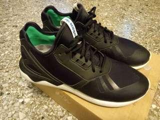 🚚 adidas tubular runner 小y-3  original黑白綠標 25.0