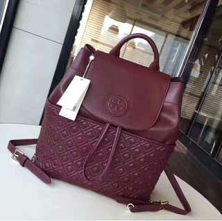 Tory Burch Burgundy Backpack