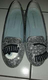 Silver shoes Chiara ferragni