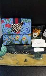 GUCCI totem messenger bag心型水晶手袋