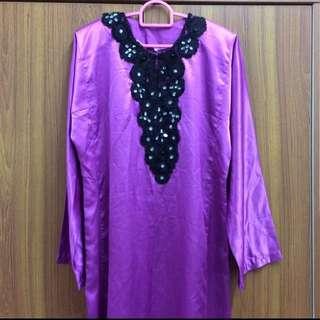 NEW Baju Kurung Purple Beads