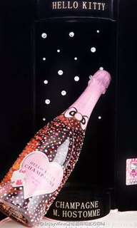 Hello kitty x Champagne M. Hostomme champagne 香檳.  Original $3300 limited edition