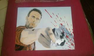 The Walking Dead Rick Grimes painting