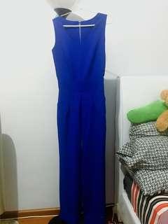 Preloved Long Blue Jumpsuit