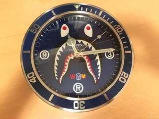 BAPE 鯊魚鐘 - BAPE Shark Wall Clock
