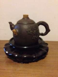 紫砂茶壺,舊紫砂黑鉄胎泥