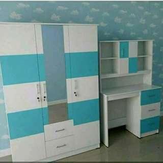 Satu set lemari+meja belajar anak