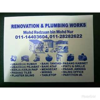 Renovation and plumbing service 0132820501
