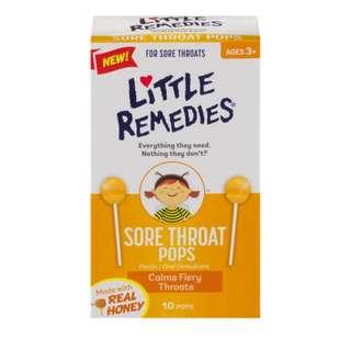little remedies美國進口天然蜂蜜寶寶兒童嬰幼兒止咳棒棒糖