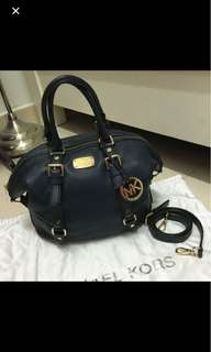 Michael Kors bowling bag dark blue