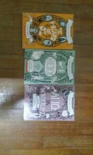 Scholastic Junior Classics  ( The wizard of Oz , Heidi , Alice in wonderland)