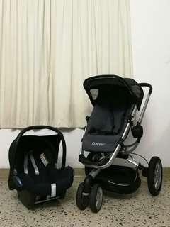 QUINNY BUZZ XTRA + INFANT CAR SEAT MAXI COSI CABRIOFIX