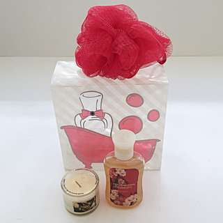 Vintage New Bath & Body Works BBW Japanese Cherry Blossom + Spice Mini Set