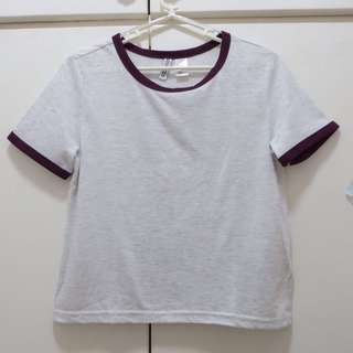 H&M ringer tee cropped